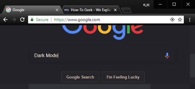 Chrome dark mode extension