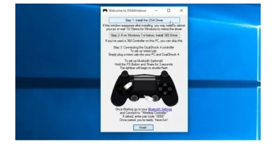 PS4 controller on windows 10